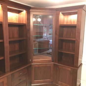 Black American Walnut Display cabinet manufactured by Touch Bespoke Joinery
