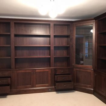 Black American Walnut Display cabinet manufactured by Touch Bespoke Joinery image 2