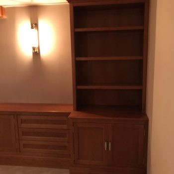 Cherry Bookcase with traditional butt hinges manufactured by Touch Bespoke Joinery Image 2
