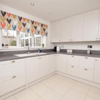Shaker Kitchen with V groove end panels manufactured by Touch Bespoke Joinery Image 3