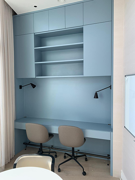 Handmade study joinery made to suit clients every needs manufactured by Touch Bespoke Joinery