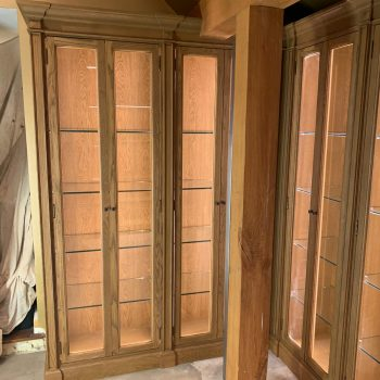 Bespoke display cabinets manufactured to match existing cabinets manufactured by Touch Bespoke Joinery