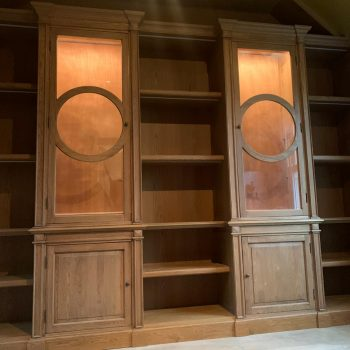 Bespoke shelving manufactured to fit in with existing cabinets manufactured by Touch Bespoke Joinery image 4