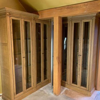 Bespoke display cabinets manufactured to match existing cabinets manufactured by Touch Bespoke Joinery image 2