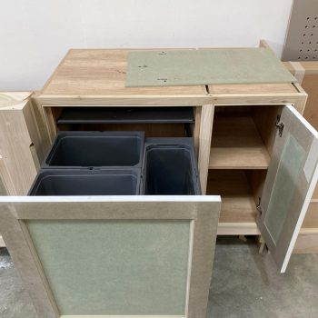 Bespoke Kitchen with integrated pull out Hafele bins