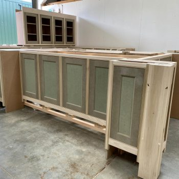 Bespoke Kitchen Island Unit which will receive a mega slab of marble once installed