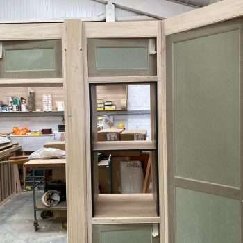 Bespoke Kitchen double oven cabinet being manufactured