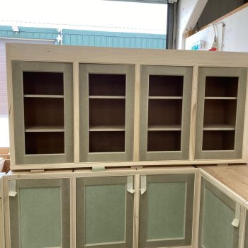 Bespoke Kitchen Wall units being manufactured in our Essex Joinery Workshop