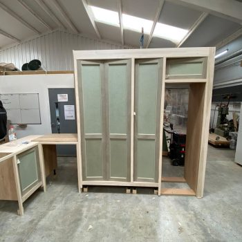 Bespoke utility room joinery with ovolo shaker style doors