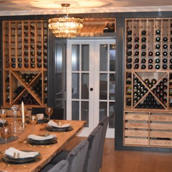 Bespoke Wine storage unit fitted into the dining room