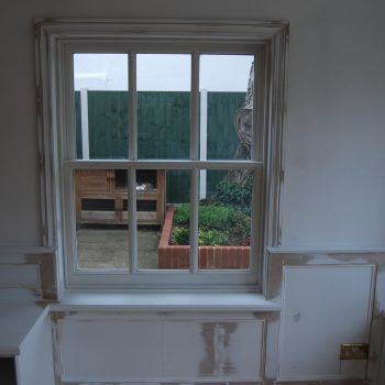 Traditional Box Sash Windows and wall Panelling