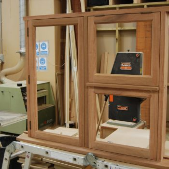 Sapele Hardwood Window being manufactured in the workshop
