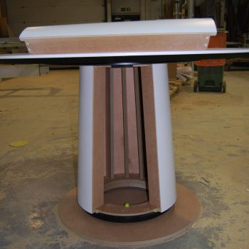 Bespoke Conical Table with access panel