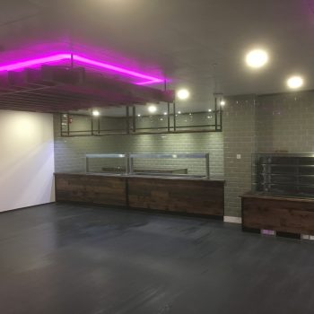 Fitting progress of canteen joinery