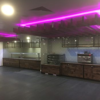 Suspended timber feature ceiling