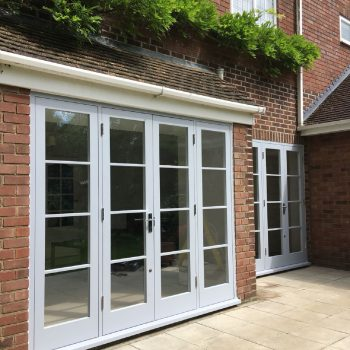 Bespoke Hardwood French doors outside view