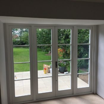 Bespoke Hardwood French doors inside view