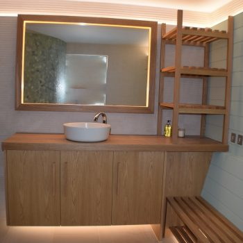 Bespoke Vanity Unit, Mirror and Dryer unit for changing room