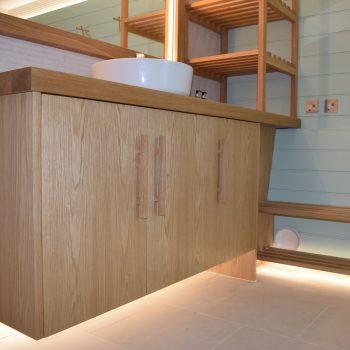 Oak Vanity unit to Bespoke Oak Door Handles