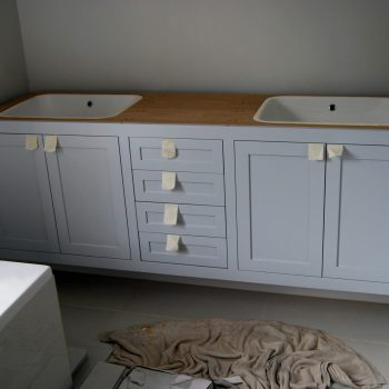 His and Hers Bespoke Fitted Vanity Unit, Waiting for Worktop to be fitted