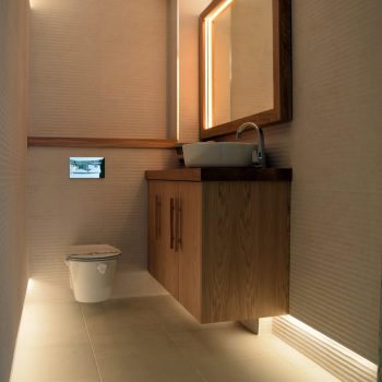 Bespoke Vanity unit and mirror, Manufactured from Oak