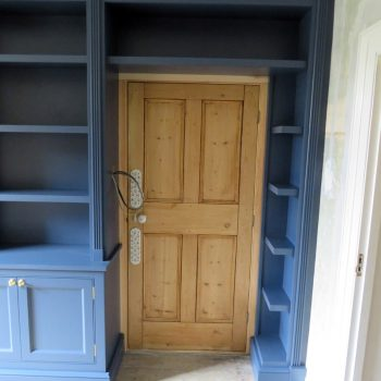 Bespoke Study Book case made to fit over existing door way