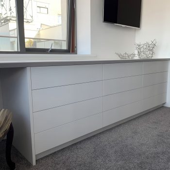 Bespoke chest of drawer unit, area also for dressing table