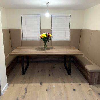 Bespoke Banquet seating and large dining table