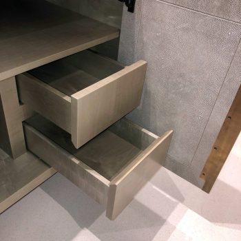 Bespoke Vanity units for bathroom, Grey Sycamore veneered Carcases