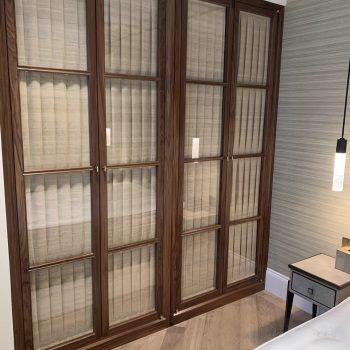 Black American Walnut Wardrobes with Beautiful Glazed doors