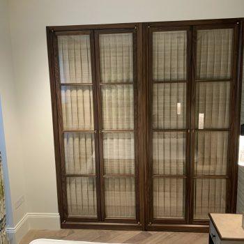 Black American Walnut Wardrobes with Glazed doors