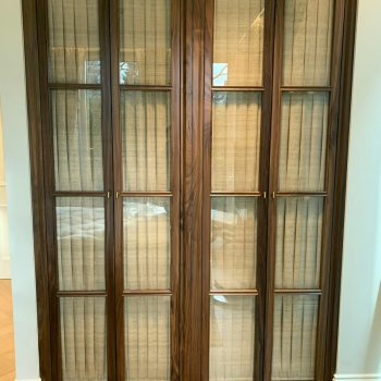 Black American Walnut Glazed Wardrobe Doors