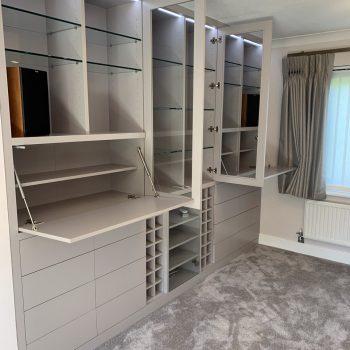 Multifunction Bespoke Joinery Cabinet, Wine storage, drawers, Hi-Fi cabinet, Display shelves
