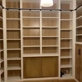 Home study, Tonk strip for adjusting shelves