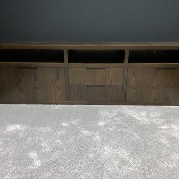Bespoke cabinet for cinema room