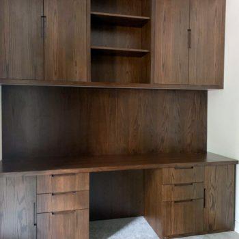 Bespoke Oak Study with custom stain and lacquer