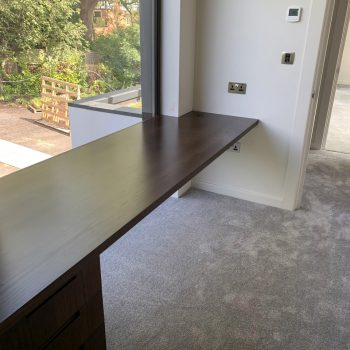 Bespoke home office with large desk