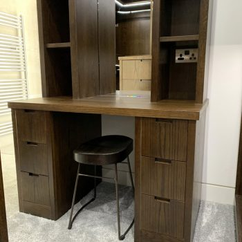 Bespoke dressing table with mirror to back wall