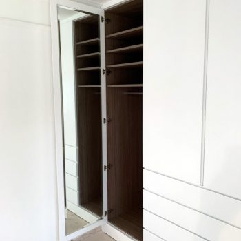 Egger MFC carcase to wardrobe, Mirror fitted to back of wardrobe door