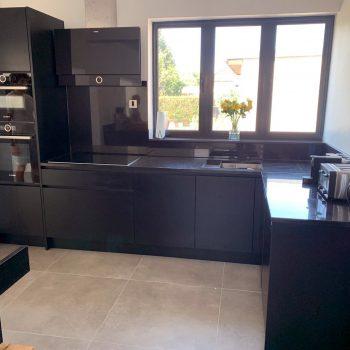 Bespoke kitchen finished sprayed in Black