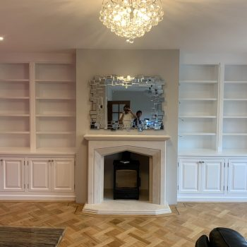 Bespoke alcove units, Doors have ovolo beading and raised and fielded panels