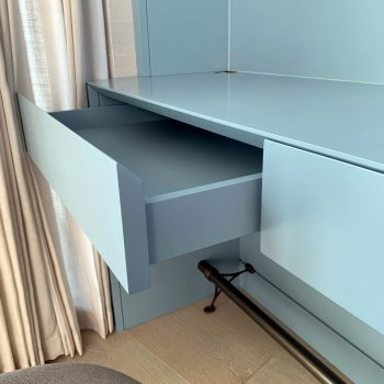 Drawer box fitted onto Blumotion Movento Drawer runners