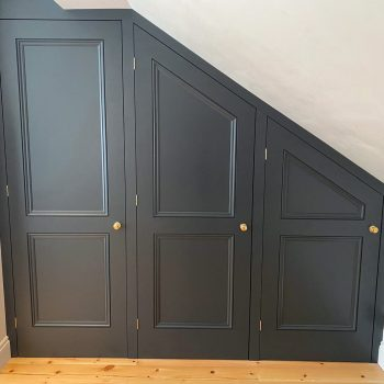 Bespoke wardrobes manufactured into a Eaves