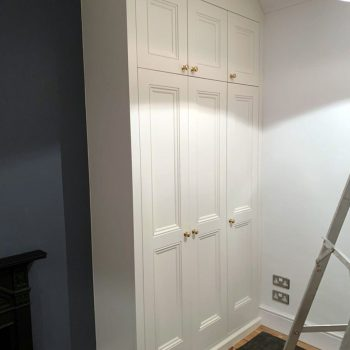 Alcove wardrobes with shaker doors with beading