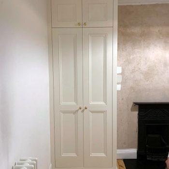 Double door wardrobe, shaker doors, beaded shaker doors