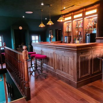 Country and western style home bar