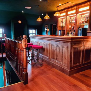 Bespoke western bar fully fitted into games room