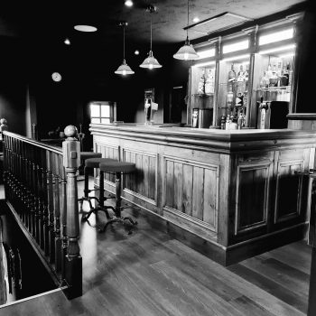 Black and white picture of country and western bar