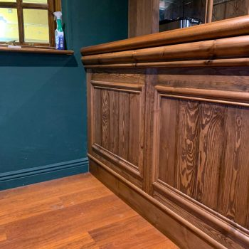 Tongue and groove front bar panelling
