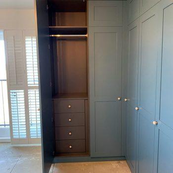 Egger MFC wardrobe, Drawer pack with Blumotion drawer runners